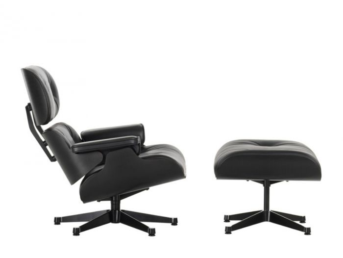 Swell Vitra Eames Lounge Chair Ottoman All Black Pabps2019 Chair Design Images Pabps2019Com