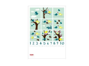 Isak Children's Prints Educational Counting Poster SALE