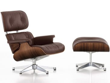 Vitra Eames Lounge Chair & Ottoman - Black Pigmented Walnut