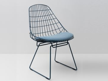 Pastoe SM05 Wire Chair with Cushion