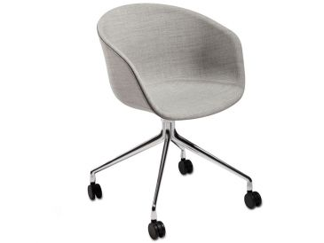 Hay About A Chair AAC25 Upholstered With Swivel Base & Castors