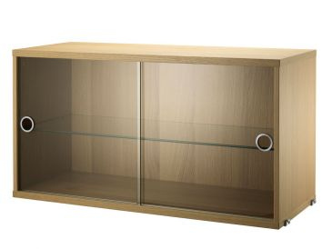 String Cabinet with Glass Sliding Door
