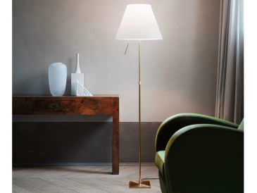 Luceplan Costanza Floor Light - Brass