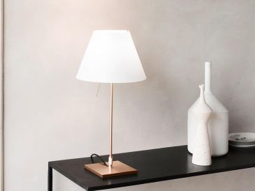 Luceplan Costanzina Table Light - Brass
