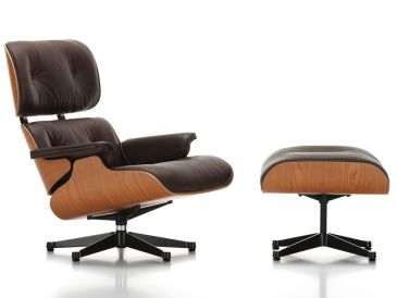 Vitra Eames Lounge Chair & Ottoman - American Cherry