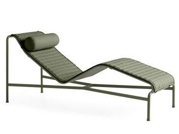 HAY Palissade Chaise Longue with Quilted Cushion
